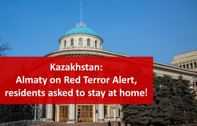 Kazakhstan: Almaty on Red Terror Alert, residents asked to stay at home